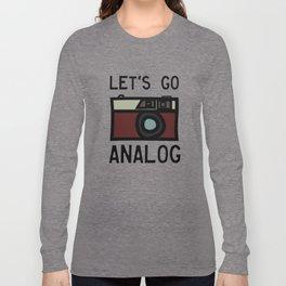 LET'S GO ANALOG - Camera Long Sleeve T-shirt