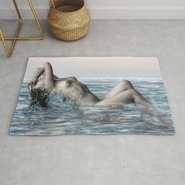 Rising from the sea Rug