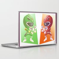 power rangers Laptop & iPad Skins featuring Mighty Fightin' Power Rangers by garciarts