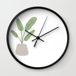 Houseplant Print No. 1 (classic) Wall Clock