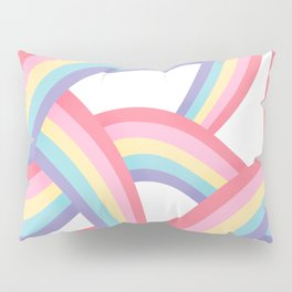 Rainbow abstract pattern Pillow Sham