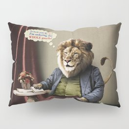 Hungry Lion Pillow Sham