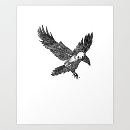 Crow Animus Art Print