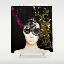 Behind the mask Shower Curtain