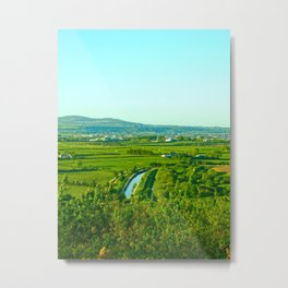 Dungarvan Fields Metal Print