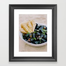 Mussels & Bread Framed Art Print