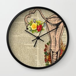 Uterus anatomical prints Wall Clock