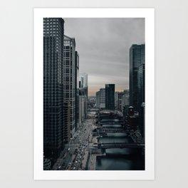 Chicago Riverwalk Art Print