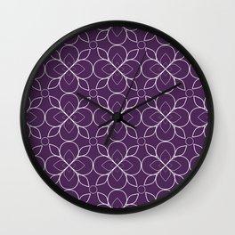 Purple Mosaic Wall Clock