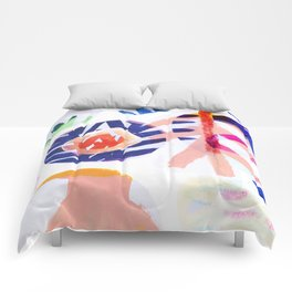 floral abstract Comforters
