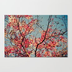 Autumn Branch & Leaves Canvas Print