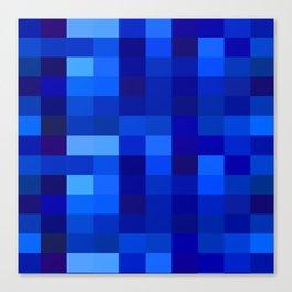 Blue Mosaic Canvas Print