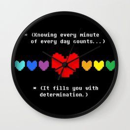 This Fills You With Determination Wall Clock