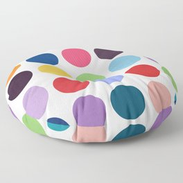 Colorful watercolor circles III Floor Pillow