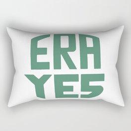 ERA YES (Green on white) Rectangular Pillow