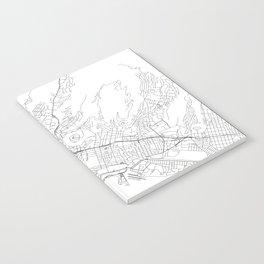 Honolulu White Map Notebook