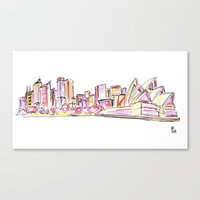 sydney Canvas Prints featuring Sydney by Ursula Rodgers
