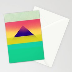 Purple Pyramid Stationery Cards
