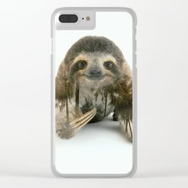 Arctic Sloth Clear iPhone Case