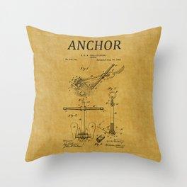Anchor Patent 1 Throw Pillow