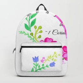 Do Everything in Love 1 Corinthians 16:14 Backpack
