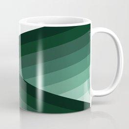 Serene Contemporary Green Ombre Design Coffee Mug