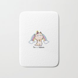Im A Caticorn Cute Unicorn Cat Bath Mat