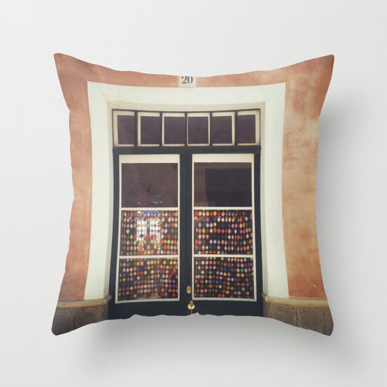 Looking In Throw Pillow