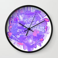 melbourne Wall Clocks featuring 002- Melbourne by Nick Cocozza