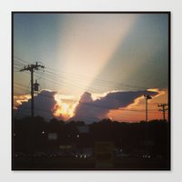 dave matthews Canvas Prints featuring Sunset in Matthews, NC by KfrogB