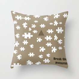 Image designed with caricature style to be used as a pattern. Break the rules and patterns Throw Pillow