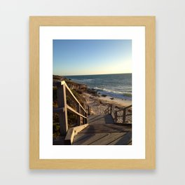 Cove Beach Framed Art Print