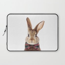Baby Rabbit, Brown Bunny With Bow Tie, Baby Animals Art Print By Synplus Laptop Sleeve