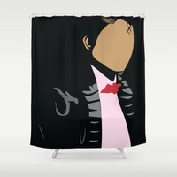 cassandra jean Shower Curtains featuring Billie Jean by Angelia Media