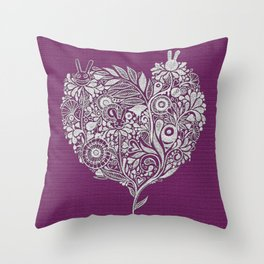 Love from the heart - The right way of life is love 愛由心生 - 愛了就對了 Throw Pillow