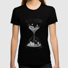 Sand Timer MEDIUM Black Womens Fitted Tee