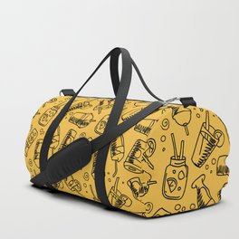Fast Food Drinks Cola Milkshake Lemonade Pattern Duffle Bag