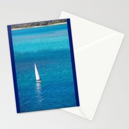 Perfect Blue Sailing Day Stationery Cards