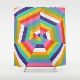 Heptagon Quilt 4 Shower Curtain