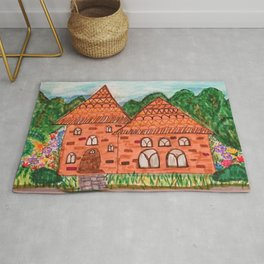 Cozy Little Cottage Drawing Rug