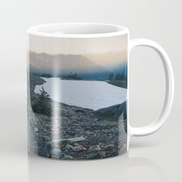 Sunset stroll through the mountains Coffee Mug
