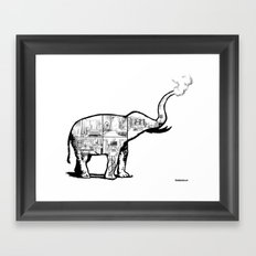 Elephant House Framed Art Print