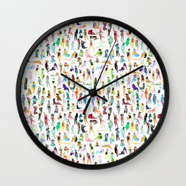 100 tiny ladies Wall Clock