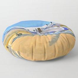 Pop Art Airliner Floor Pillow