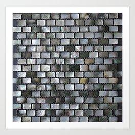 rectangle brick block pattern Art Print