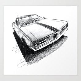 1965 Muscle Car Sketch Art Print