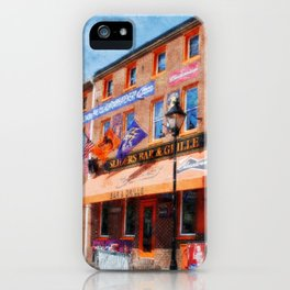 Sliders Bar and Grille, Baltimore, Maryland, Camden Yards, Orioles  iPhone Case