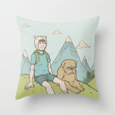 Adventure Time Throw Pillow