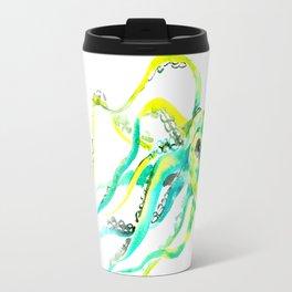 Turquoise Green Octopus Travel Mug