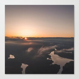 Sea of clouds during  sunset Canvas Print